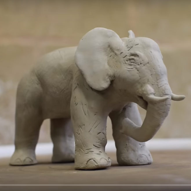 VIDEO: Making a simple animal out of clay